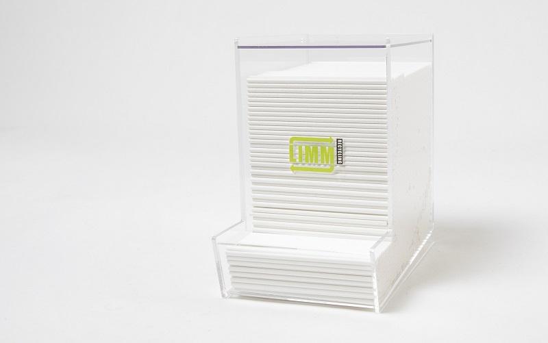 Papieren roerstokjes plexiglas dispenser